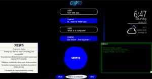 Fig 3 Screengrab of Crypto's UI