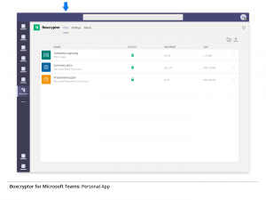 2. Boxcryptor's Personal App for Privacy of Your Data in Microsoft Teams
