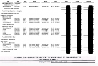 REvil also shared images of the employer's report and payroll documents.
